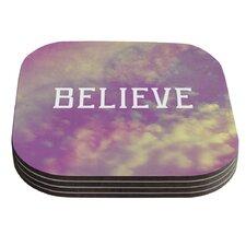 Believe by Rachel Burbee Coaster (Set of 4)