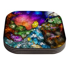 Fairy Tale Alice in Wonderland by Mandie Manzano Coaster (Set of 4)