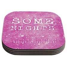 Some Nights by Monika Strigel Coaster (Set of 4)