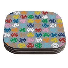 Roll with it on Grey by Project M Coaster (Set of 4)