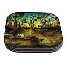 Aligator Swamp by Mandie Manzano Coaster (Set of 4)