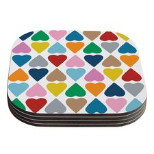 Diamond Hearts by Project M Coaster (Set of 4)