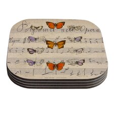 Butterfly Opera by Suzanne Carter Coaster (Set of 4)