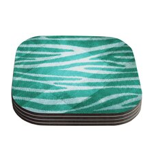 Zebra Texture by Nick Atkinson Coaster (Set of 4)