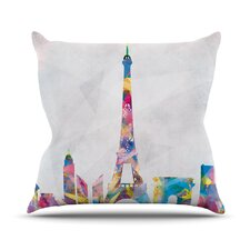Paris by Mareike Boehmer City Rainbow Throw Pillow
