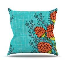 Flowers by Nandita Singh Throw Pillow