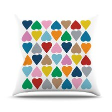 Diamond Hearts by Project M Throw Pillow