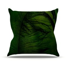 Feather by Robin Dickinson Peacock Throw Pillow