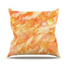 Autumn by Rosie Brown Orange Paint Throw Pillow