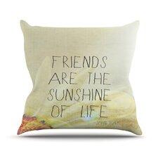 Friends Sunshine Throw Pillow