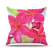 Plumeria by Sylvia Cook Flower Petals Throw Pillow