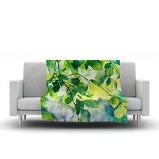 Leaves by Sylvia Cook Micro Fiber Fleece Throw Blanket