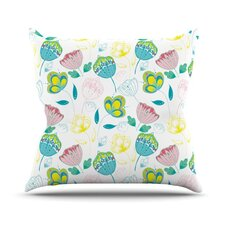 Indie Floral by Anneline Sophia Throw Pillow