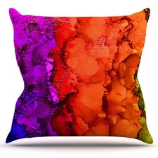 Rainbow Splatter by Claire Day Throw Pillow
