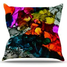 Hippie Love Child by Claire Day Throw Pillow