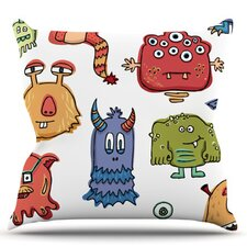 Little Monsters by Brienne Jepkema Throw Pillow