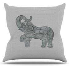 Elephant by Belinda Gillies Throw Pillow
