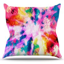Technicolor Clouds by Caleb Troy Throw Pillow