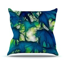 <strong>KESS InHouse</strong> Leaves Throw Pillow