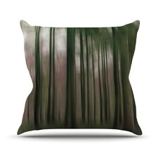 Forest Blur Throw Pillow