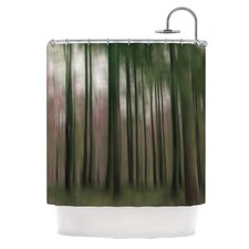Forest Blur Polyester Shower Curtain