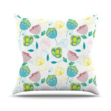 <strong>KESS InHouse</strong> Indie Floral Throw Pillow