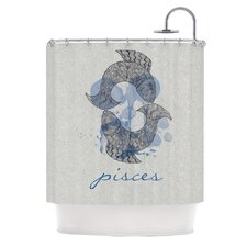 Pisces Polyester Shower Curtain