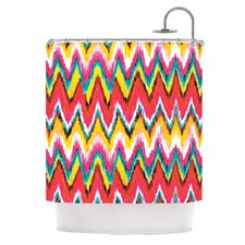 Painted Chevron Polyester Shower Curtain