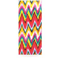 Painted Chevron Floating Art Panel