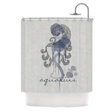 Aquarius Polyester Shower Curtain