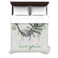 Scorpio by Belinda Gillies Woven Duvet Cover