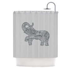 <strong>KESS InHouse</strong> Elephant Polyester Shower Curtain