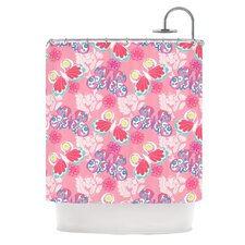 Baroque Butterflies Polyester Shower Curtain