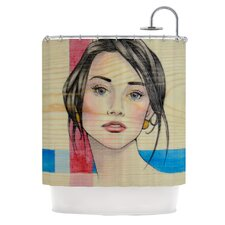 Face Polyester Shower Curtain