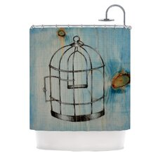 Bird Cage Polyester Shower Curtain