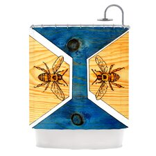 <strong>KESS InHouse</strong> Bees Polyester Shower Curtain