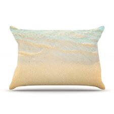 <strong>KESS InHouse</strong> Ombre Water Microfiber Fleece Pillow Case