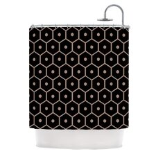 Tiled Mono Polyester Shower Curtain