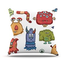 Little Monsters Throw Pillow