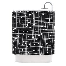 <strong>KESS InHouse</strong> Woven Web Mono Polyester Shower Curtain