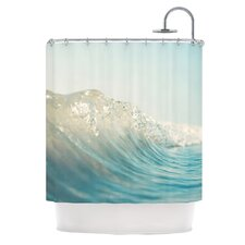 The Wave Polyester Shower Curtain