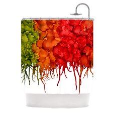 Fall Splatter Polyester Shower Curtain