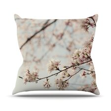 Japanese Blossom Throw Pillow