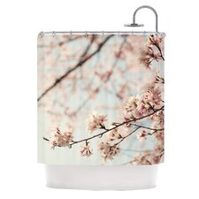Japanese Blossom Polyester Shower Curtain