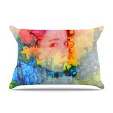 Rainbow Splatter Microfiber Fleece Pillow Case