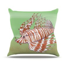 Fish Manchu Throw Pillow