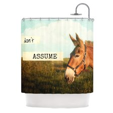 Don't Assume Polyester Shower Curtain