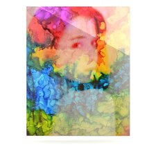 Rainbow Splatter Floating Art Panel