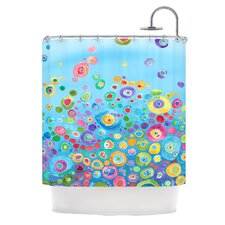 Inner Circle Polyester Shower Curtain