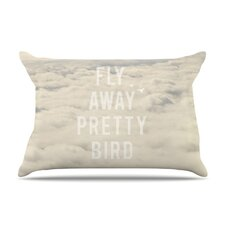 Fly Away Pretty Bird Microfiber Fleece Pillow Case